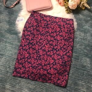 LuLaRoe Skirts - NWT Cassie Pink & Blue Triangle Pattern Skirt